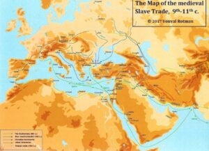 Map of the Medieval slave trade, 9th-11th c. (Rotman 2017)